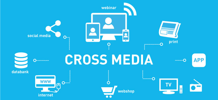 Cross-media approach using an interactive webinar